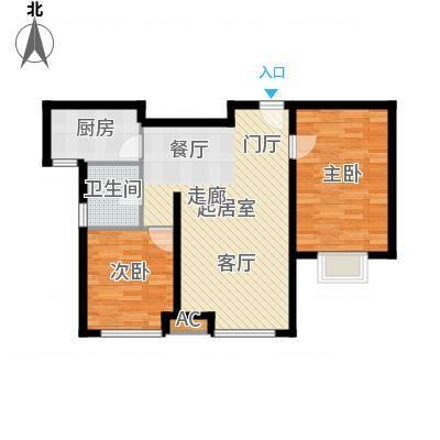 万锦香颂N2户型2室2厅1卫-副本