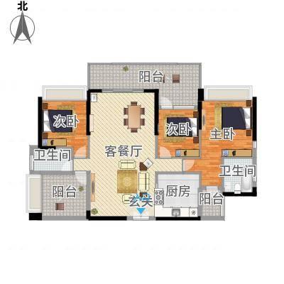 深圳东星河丹堤三期3、5、6、7栋03户型-副本