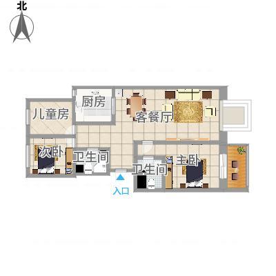 幸福家园3单元胡伟设计装饰机构-副本
