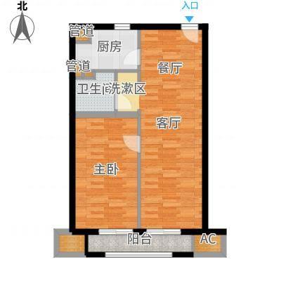 华润外滩九里国际公寓73.00㎡B户型-副本