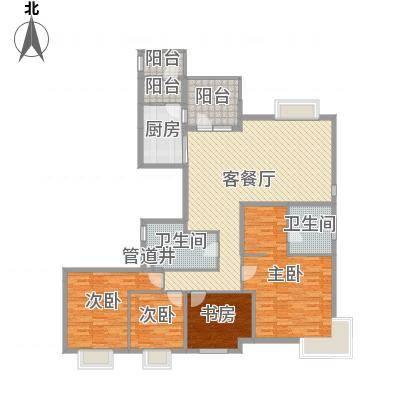 富力城・云栖谷户型图177平户型图 3室1厅1卫1厨-副本