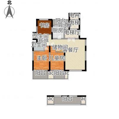 华亭苑华亭苑户型图B3室2厅2卫1厨户型3室2厅2卫1厨-副本