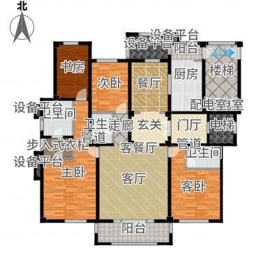 华润置地・昆玉九里193.00㎡E户型4室3厅3卫1厨户型4室3厅3卫-副本