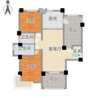 安阳碧桂园125.00㎡花园电梯洋房125m²户型-副本