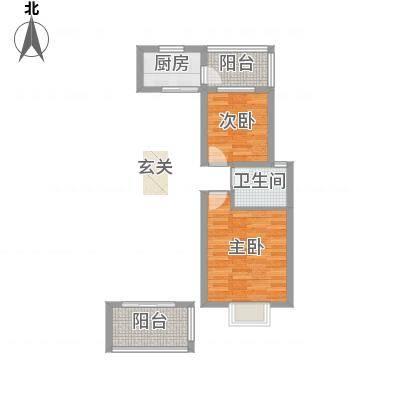 维也纳花园83.23㎡二期多层标准层J户型2室2厅1卫1厨-副本