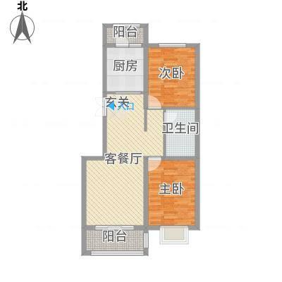 奥林・景泰嘉苑B户型2室2厅1卫1厨-副本