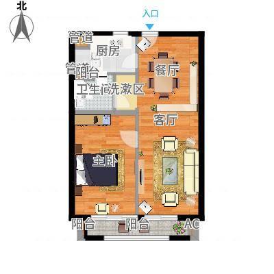 华润外滩九里国际公寓73.00㎡B户型-副本-副本