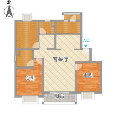 泰燕华庭119.52㎡上海(城市丽景)户型3室2厅2卫1厨-副本