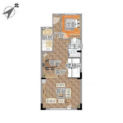 天津_万科东丽湖碧湖苑196m2一楼中式装修方案二