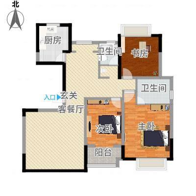 万福世家147.00㎡高层G3户型3室2厅2卫1厨-副本