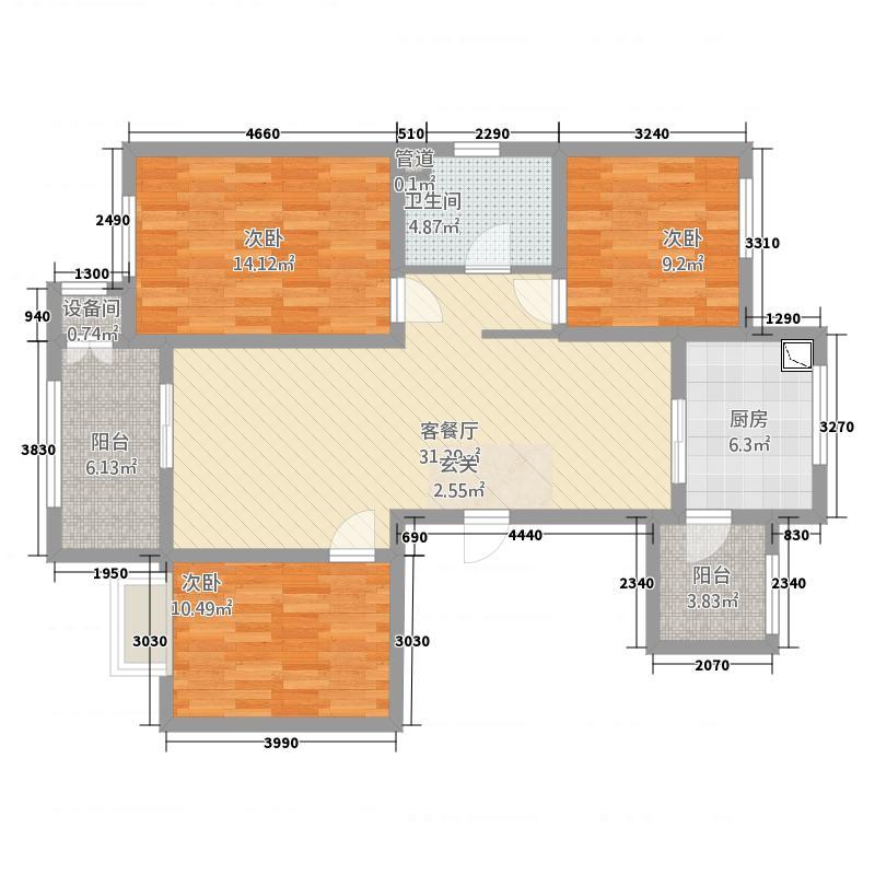 二层七间香房结构图