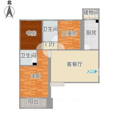 邯郸_恒隆广场_E户型客餐厅