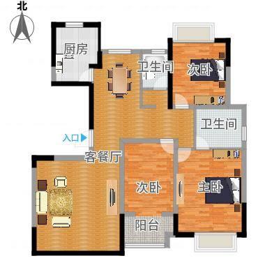 147.00㎡高层G3户型3室2厅2卫1厨