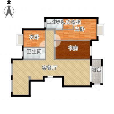 海晟花苑145.00㎡145平米户型3室2厅2卫-副本