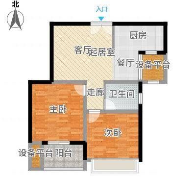 水岸豪庭东苑82.00㎡2室1厅1卫-副本
