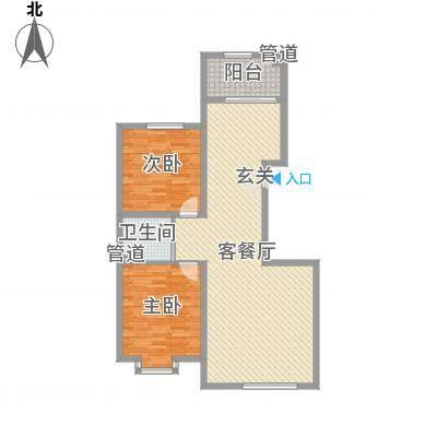 当代晶典117.20㎡户型2室2厅1卫1厨-副本
