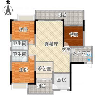 金山湖卧龙传说B2户型,4室2厅2卫,约134.00平米
