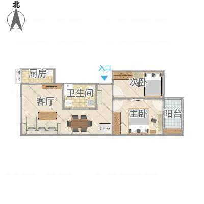旧房翻新的户型图