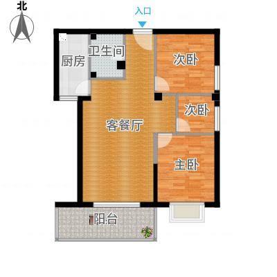 三号楼89方3号户型三室两厅2016-03-14
