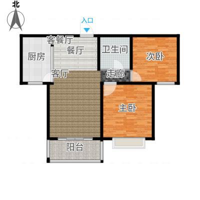 黄金海岸90.00㎡户型B-2户型2室2厅1卫-副本