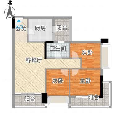 阳光海岸晶岸88.00㎡阳光海岸晶岸3室户型3室-副本