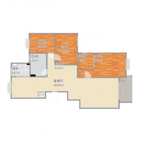 B4-4-601户型三房三厅钱