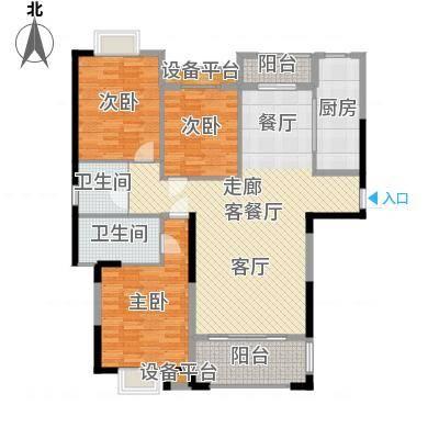 金鼎名城130.20㎡金鼎名城户型图A3户型3室2厅2卫1厨户型3室2厅2卫1厨-副本