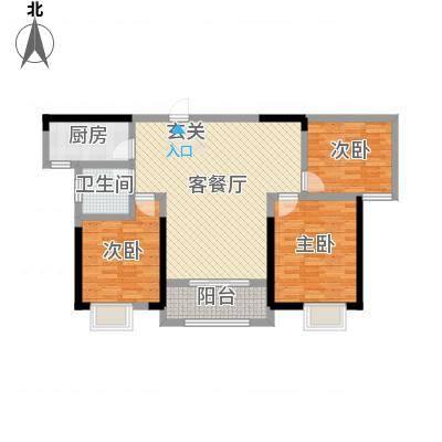 海亚・香樟园115.40㎡B3户型3室2厅1卫1厨-副本