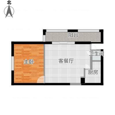 财富广场63.50㎡A户型1室1厅1卫1厨-副本