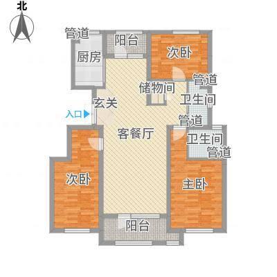 赵都华府133.22㎡M户型3室-副本