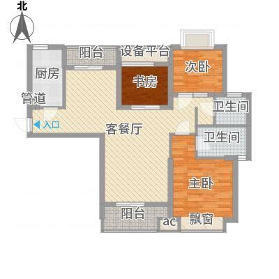 听涛观海龙台108.00㎡听涛观海龙台户型图A5户型3室2厅2卫1厨户型3室2厅2卫1厨-副本