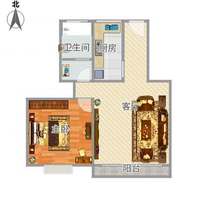 上海_丽泽荷亭苑A6型62.75平方_2015-09-30-1701