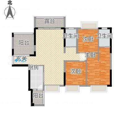 鼎峰源著1栋03户型3+1房2厅2卫138㎡131-140㎡