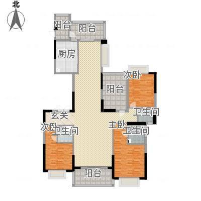 天骄御峰207㎡02户型3室2厅3卫1厨207.00㎡