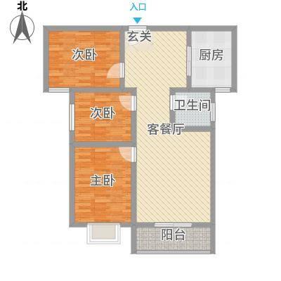 三杰盛世城108.02㎡三杰盛世城G2户型3室2厅1卫1厨108.02㎡户型3室2厅1卫1厨-副本