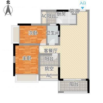 理想0769沁园78.00㎡理想0769沁园2室户型2室-副本