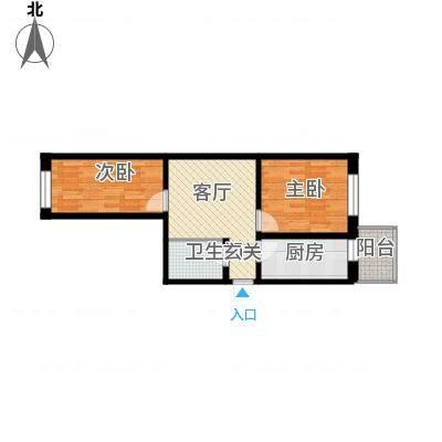 江畔方元66.00㎡江畔方元户型图2室1厅1卫1厨户型10室-副本