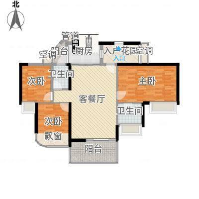 龙园8号2号楼偶数层03户型3室2厅1卫-副本