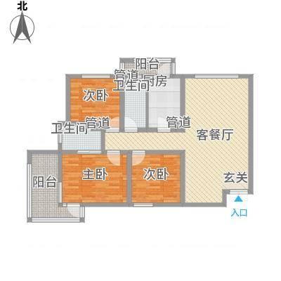 锦绣大地城一期123.00㎡锦绣大地城一期户型图D户型3室2厅2卫1厨户型3室2厅2卫1厨-副本