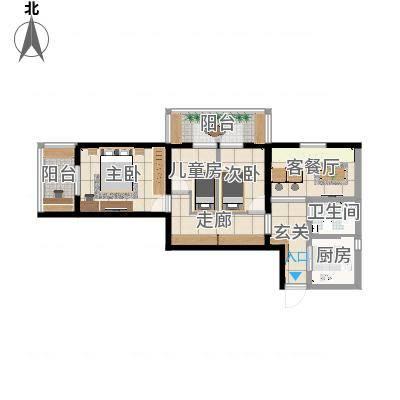 北京-北三环中路40号院2居-设计方案二
