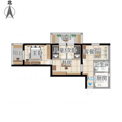 北京-北三环中路40号院2居-设计方案四