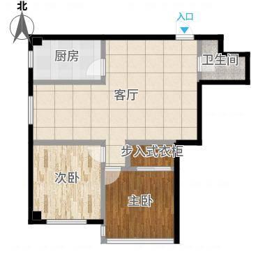 万丰王子公寓80.00㎡房型户型-副本-副本