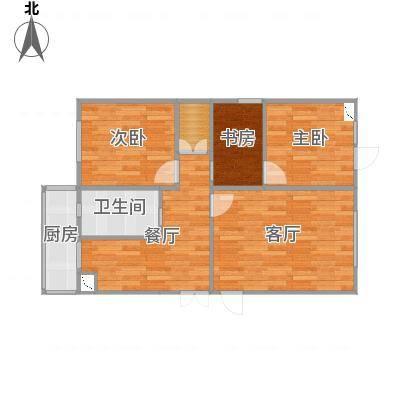育贤里17号楼90方两室一厅