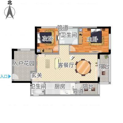 万科新城湾畔87.00㎡万科新城湾畔户型图企业的星级公寓2室2厅户型2室2厅-副本