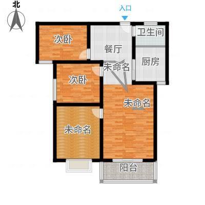 容盛星河湾102.00㎡E户型3室2厅1卫1厨户型3室2厅1卫-副本