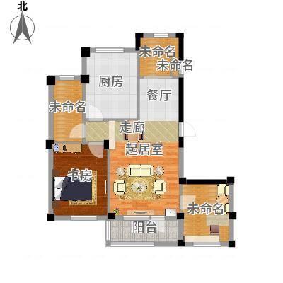 岚山著作90.00㎡I 三室二厅一卫户型3室2厅1卫-副本