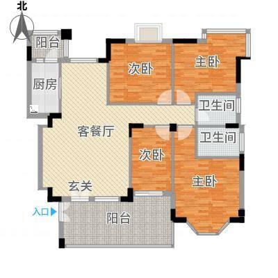 文华花园153.00㎡书香门第02户型4室2厅2卫-副本