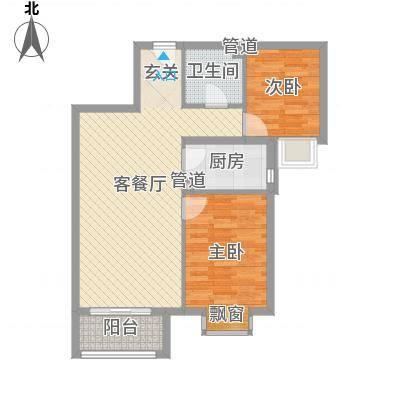孔雀大卫城HD'户型2室2厅1卫1厨-副本
