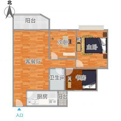 广州_祈福新村绿怡居3室83.3方修改户型