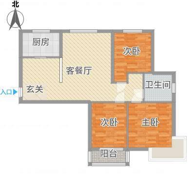 公园壹号113.62㎡c5-3户型3室2厅1卫1厨-副本